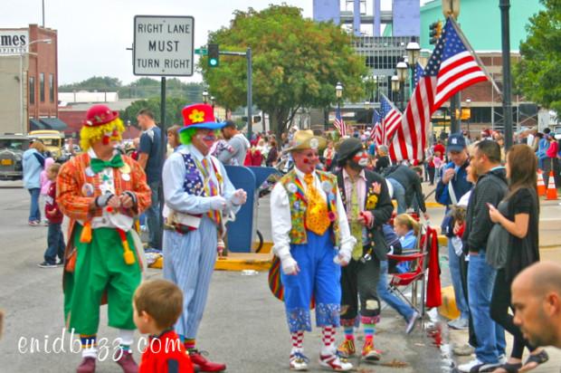 Cherokee Strip Parade Clowns