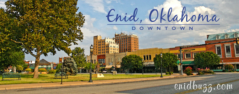 Enid Downtown Watercolor