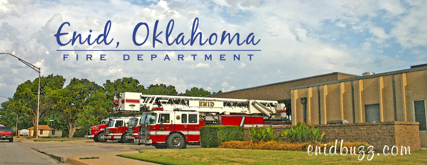 Enid Fire Station Watercolor