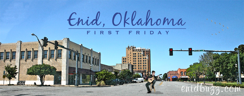 First Friday Watercolor Enid