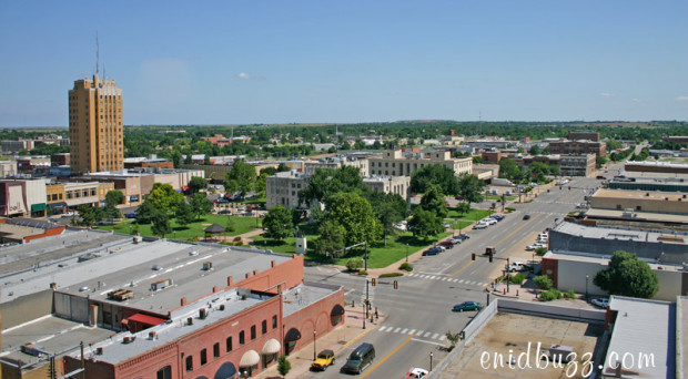 Downtown Enid Aerial View