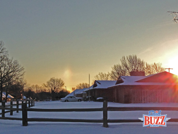 Sun Dog over Enid