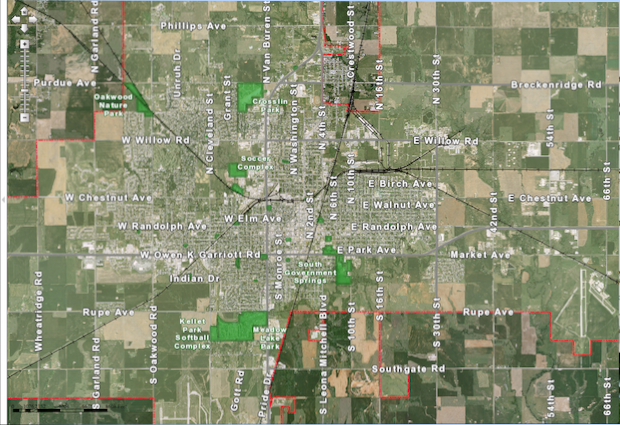 Map of Enid