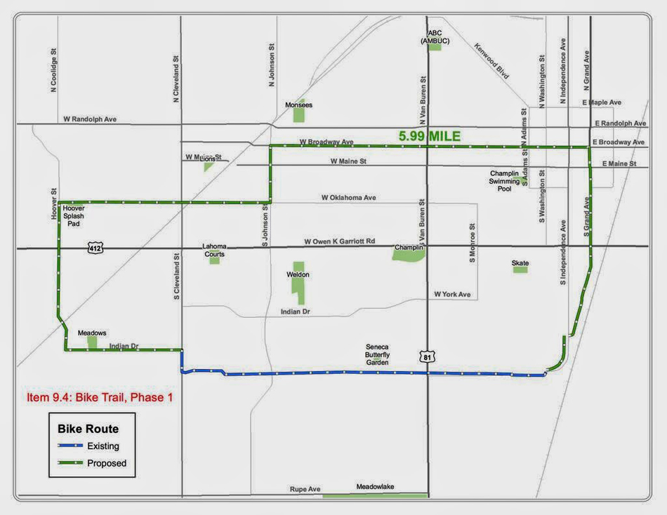 See The Enid Bike Route
