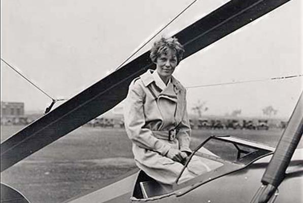 Amelia Earhart in Enid Oklahoma