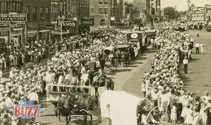 1932 Parade In Enid, Oklahoma