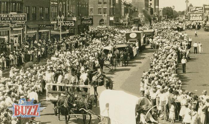 1932 Parade In Enid, Oklahoma