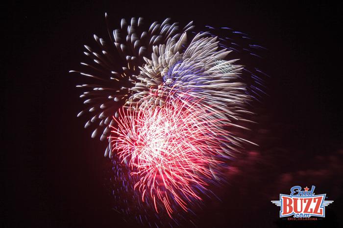 Fireworks Display in Enid