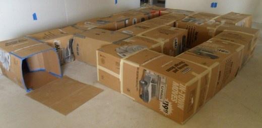 The Great Cardboard Box Maze Adventure