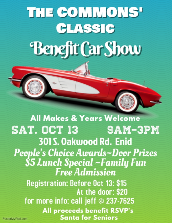 The Commons Classic Benefit Car Show Oct Th - Car show sponsorship levels